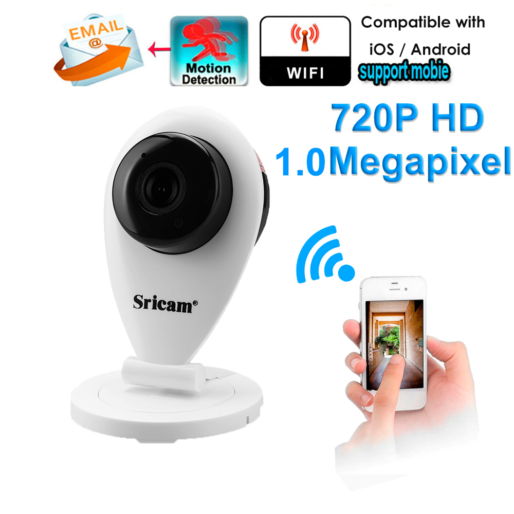 Sricam 720P H.264 Wifi IP Camera Wireless ONVIF CCTV Security